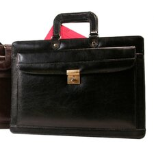 <strong>Bond Street, LTD.</strong> Drop Handle Front Leather Briefcase