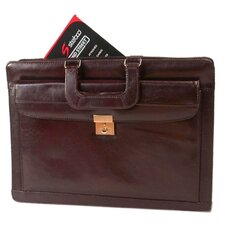 Drop Handle Front Leather Briefcase