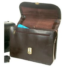 <strong>Bond Street, LTD.</strong> Executive Leather Laptop Briefcase