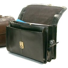 Large Leather Laptop Briefcase