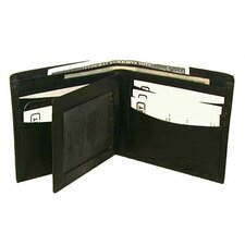 Billfold Wallet in Black with Wing