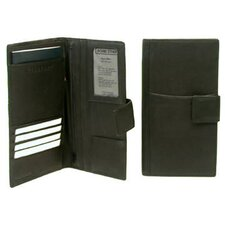 Travel Wallet for the Executive with Tab Closure