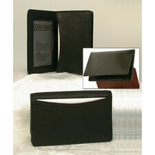 JDD Men or Womens Leather Business Card Case with Gusset