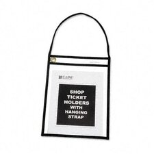 Shop Ticket Stitched Both Sides Clear Holder with Strap (15/Box)