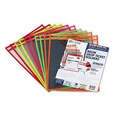<strong>C-Line Products, Inc.</strong> Stitched Neon Shop Ticket Holder (10/Pack)