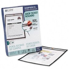 Stitched Both Sides Clear Shop Ticket Holders, 9 X 11 (25/Box)