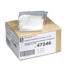 Write-On Recloseable Poly Small Parts Bags, 4 X 6 (1000/Carton)