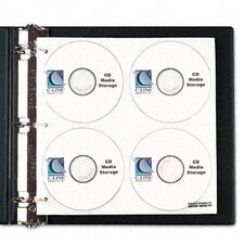 Cd/Dvd Refillable D-Ring Binder Kit with Holds 80 Disks