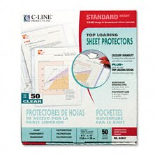 Standard Weight Polypropylene Sheet Protector (50/Box)