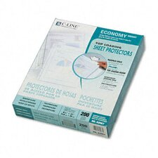 Reduced Glare Economy Weight Poly Sheet Protector (200/Box)