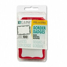 Self-Adhesive Name Badges, 3-1/2 X 2-1/4, 100/Box