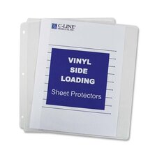 "Sheet Protectors, Side Load, Vinyl, 11""x8-1/2"", 50 per Box, Clear"