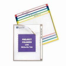 "<strong>C-Line Products, Inc.</strong> Project Folders, Colored, 11""x8-1/2"", 25 per Box, Assorted"