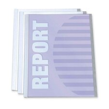 "Report Covers, w/ Binding Bars, 11""x8-1/2"", 3 per Pack, Clear"