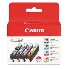 <strong>Canon</strong> Cli-221 Ink (4/Pack)