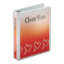 "1"" 8.5"" x 5.5"" Mini ClearVue Round Ring Binder"