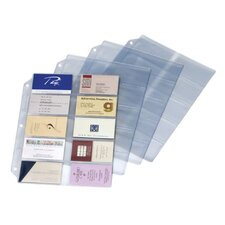 Poly Business Card Refill Page (Set of 24)