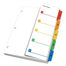 OneStep Fold Out Printable Table of Contents Divider (Set of 24)