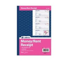 100 Forms Adams Business Forms Receipt Book, Three-Part Carbonless