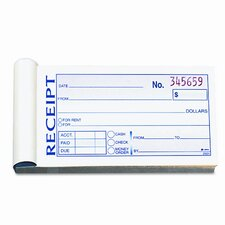 Money/Rent Receipt Book, 2-Part Carbonless, 50 Sets