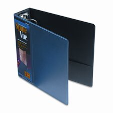 Spinevue Round Ring View Binder, 3in Capacity, Navy