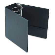 Leather Grain Vinyl EasyOpen D-Ring Binder w/Finger Slot, 5in Cap