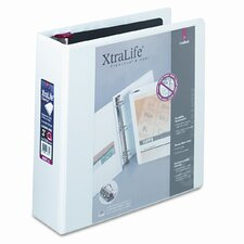 Clearvue Xtralife Slant-D Presentation Binder, 3in Capacity, White