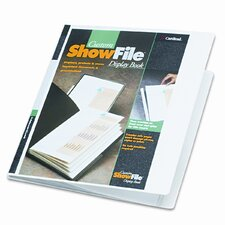 <strong>Cardinal Brands, Inc</strong> ShowFile Display Book with Custom Cover Pocket , 12 Letter-Size Sleeves, White