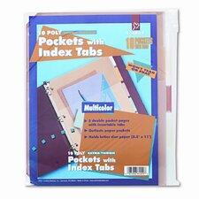 Ring Binder Divider Pockets with Index Tabs (5/Pack)