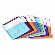 Poly 1-Pocket Index Dividers, 8-Tabs/Set, 4 Sets/Pack