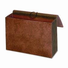 "5 1/4"" Expansion Accordion Pockets, Straight, Redrope, 10 x15 3/8, Brown"