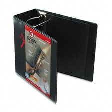 "Recycled Clearvue Easyopen Vinyl D-Ring Presentation Binder, 5"" Capacity"