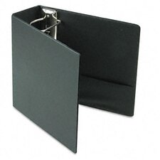 Recycled Leather Grain Vinyl EasyOpen D-Ring Binder, 4in Cap