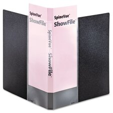 Spinevue Showfile Display Book with Wrap Pocket, 12 Letter-Size Sleeves