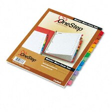 Traditional Onestep Index System12 Tab, Jan-Dec, Letter (Set of 12)