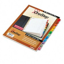 <strong>Cardinal Brands, Inc</strong> Traditional Onestep Index System, 12-Tab, 1-12, Letter (Set of 12)