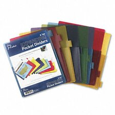 <strong>Cardinal Brands, Inc</strong> Poly Expanding Pocket Index Dividers, 8-Tab, Letter
