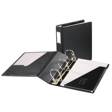 "D Ring Binder W/Label Holder, 3"" Cap, 11""x8-1/2"", Black"