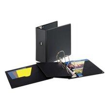 "D-Ring Binder, Vinyl, 5"" Capacity, 11""x8-1/2"", Black"
