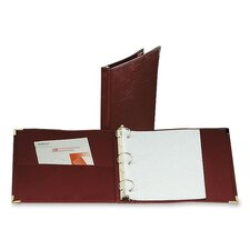 "Binder, 3 Ring, Vinyl, 1"" Capacity, 11""x8-1/2"", Burgundy"