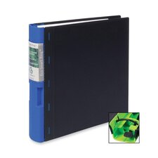 "Recyclable Binder, 2"" Capacity, 11""x8-1/2"", Black/Blue"