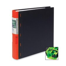 "Recyclable Binder, 2"" Capacity, 11""x8-1/2"", Black/Red"