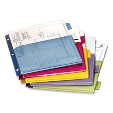 "Dividers, Expanding Pocket, 5-Tab, 11""x8-1/2"", Multicolor"