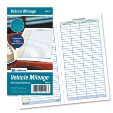Vehicle Mileage Log, 6 1/4 x 3 1/4, 32 Forms