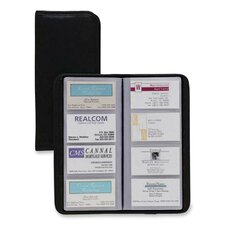 "<strong>Cardinal Brands, Inc</strong> Busn Card File,Non-Glare, 96-Card Capacity, 4-1/4""x1/2""x10-3/8"", Black"