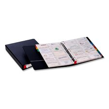 "<strong>Cardinal Brands, Inc</strong> Card File Binder, Holds 400 Cards, 1-1/2"" Capacity, Letter, Black"