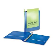 "Heavy-Duty Round-Ring Vue Binders, Heavy-Duty, 1"" Capacity, Blue"