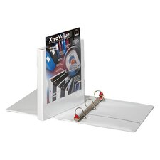 "Clearvue Locking D-Ring Binder, 11""x8-1/2"", White, 1.5"" Capacity"