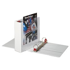 "Clearvue Locking D-Ring Binder, 11""x8-1/2"", White, 2"" Capacity"