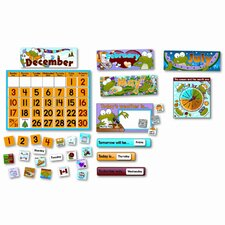 Frog Calendar Bulletin Board Set